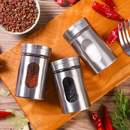 sugar salt jars NZ - Stainless Steel Spice Shaker Jar Sugar Salt Pepper Herbs Toothpick Storage Bottle BBQ Spice Storage Bottle Cooking Seasoning wh0704