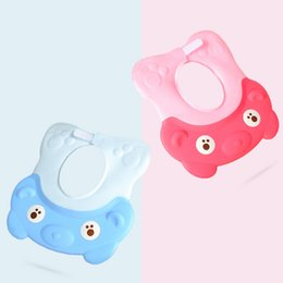 Wholesale Hot Sale Lovely Cartoon Bathing Cap Baby Shower Cap Ear Protectors Increase Adjustable Children Silicone Hair Shampoo
