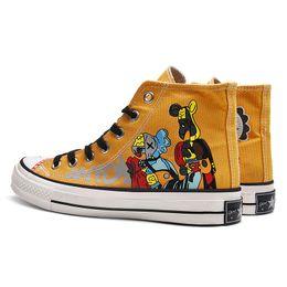 $enCountryForm.capitalKeyWord Australia - Men and Women High-top Canvas Shoes Graffiti Hand-painted Shoes