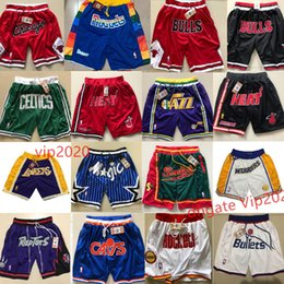 venda por atacado Calças Stiched New Apenas Esporte Don Sportwear Shorts Basketball respirável Sweatpants Gym treinamento com bolsos com zíper