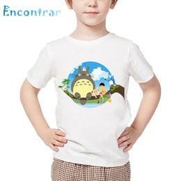 japanese boys fashion 2019 - Kids Japanese Anime Spirited Away Print T shirt Children Totoro Design Funny T-shirt Boys and Girls Summer White Tops,HK