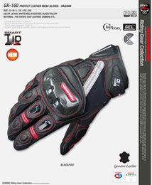 Mesh Fiber Australia - Free shipping 2018 GK-160 Carbon Protect Mesh Motorcycle Gloves Dreathable Riding Carbon Fiber Leather Gloves