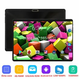 Dual Sim Slot Tablets Australia - Unlocked Pad 10 inch Octa Core 3G 4G FDD tablet Android 8.0 with Dual SIM Card Slot 4GB RAM 64GB ROM Built-in WIFI Bluetooth GPS