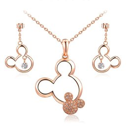 $enCountryForm.capitalKeyWord Australia - Newest Gold Plated Necklace Earrings Jewelry Sets For Women Silver Color Wedding Party Jewelry Sets Austrian Crystal