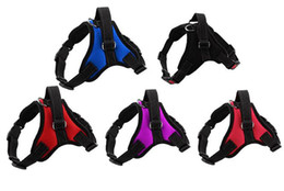 Cloth Dog Harness Collar UK - Pet Dog vest Harness No Pull Adjustable Small Medium Large XL big Dog Harness Cloth Chest Strap