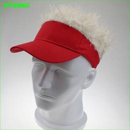 Table Hair Australia - Man Fake Flair Hair Golf Caps Funny Outdoor Wig Cap for Hair Loss Six Colors