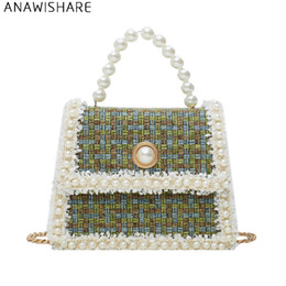 pearl cell phone cover 2019 - ANAWISHARE Women Tote Pearl Crossbody Bags For Women Messenger Bags Shoulder Bag Handbags Bolsa Feminina Bolsos Mujer di