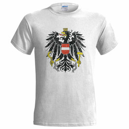 $enCountryForm.capitalKeyWord Australia - AUSTRIA COAT OF ARMS DISTRESSED LOOK MENS T SHIRT EMBLEM NATION AUSTRIAN FLAG Male Hip Hop funny Tee Shirts cheap wholesale