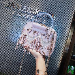 02WQ Fashion women lady Bags Shoulder Bags Cross Body high quality designer Tassel chains Shell totes free fast shipping