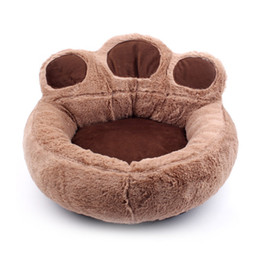 Cute Cat bedding online shopping - New Fashion Cute Dog Bed Warming Dog House Cats Puppy Winter Soft Nest Short Plush Sofa Cushion House Pet Products