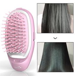$enCountryForm.capitalKeyWord Australia - 3D Inflatable Electric Hair Brush Comb Portable Hair Massage Style Brush Negative Ions Care Hair Straightener