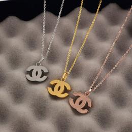 Necklaces Pendants Australia - Brand Letter Lady Pendant Necklace Fashion Luxury Titanium Steel Pendant Necklaces Women Gift Popularity Necklace Jewelry