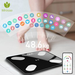 Bluetooth Body fat scale online shopping - Mrosaa cm Body Fat Scale Smart BMI Scale LED Digital Bathroom Wireless Weight Scale Balance bluetooth APP Android IOS SH190926