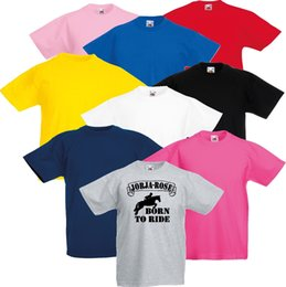 8506dc1b Funny Horse T Shirts NZ - Kids FREE Name Personalised Horse Riding Born To  Ride Banner