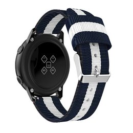 Discount fabric nylon watch strap - 2019 Watchbands Replacement Woven Nylon Fabric Watch Band Wrist Strap For Samsung Galaxy Active Fashion Casual Men Watch