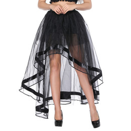 $enCountryForm.capitalKeyWord Australia - Women Elastic Waist Black Mesh Tulle Hi-lo Floor Length Long Swing Skirt for Burlesque Corset Top Perfect Halloween Outfit Skirts Plus Size