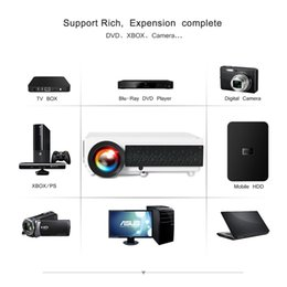 Theater Screens Australia - Poner Saund LED96+ wifi LED Android 3D Projector 5500lumens Video Full HDMI USB 1080p Video Multi screen Home theater projector