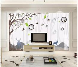 $enCountryForm.capitalKeyWord Australia - Customized 3d murals wallpapers home decor Photo wall paper Modern minimalist green small fresh hand-painted wood TV background wall