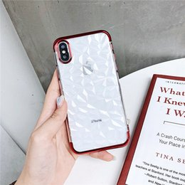 $enCountryForm.capitalKeyWord Australia - New IPhone X XR Plating TPU Diamond Pattern Phone Sets Shockproof Anti-fall Cell Phone Cases For IPhone 6 7 8 Plus Cheap