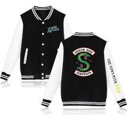 734add94bf Riverdale Harajuku Hoodies Sweatshirts Trainingsanzug Sporting Girl Männer  Baseballuniform Hoodies Mantel Frauen Plus Size Sportwear Schwarz