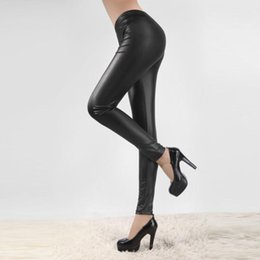 skinny trousers NZ - Women Skinny Leather Pants Plus Size Solid Casual Trousers High Waist Tight Pants Autumn Wild Sexy Office Lady Trousers