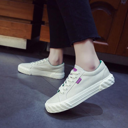 $enCountryForm.capitalKeyWord Australia - Canvas shoes women 2019 spring new Korean edition joker student low top black flat bottom retro lace-up casual board shoes