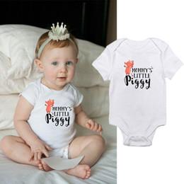 $enCountryForm.capitalKeyWord Australia - Cute Baby infant Rompers Onesie Bodysuit Newborn Letter print cotton Baby boy Girl clothes 2019 Summer Cheap Wholesale