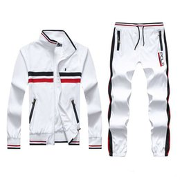 Wholesale green jogging suit resale online – Men s Hoodies and Sweatshirts Sportswear Man Polo Jacket pants Jogging Jogger Sets Turtleneck Sports Tracksuits Sweat Suits