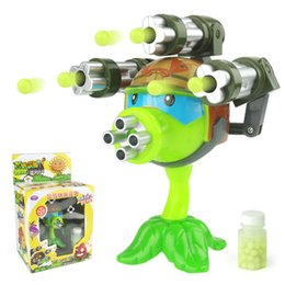 plants vs zombie figures Australia - 1PCS interesting Plants vs Zombies anime Figure Model Toy 15cm Gatling Pea shooter (3 guns)High Quality Launch Toy for Kids Gift