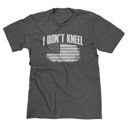 ae30bd2e34bc1 I DON T KNEEL PATRIOTIC AMERICAN FLAG RESPECT MAGA USA FOOTBALL T-SHIRT TEE  Newest Top Tees