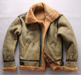 18b8f3114 Genuine Leather Avirex Jacket NZ - Hot Cold resistant AVIREX FLY sheepskin  genuine leather jackets men