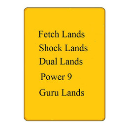 Großhandel Schwarzer Kern magisches Brettspiel Karten DIY das Sammeln von Holo-Karte landet holen, Doppelländer, Macht 9 Shock Lands MGT Proxy