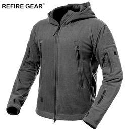 Discount men s winter gear - ReFire Gear Autumn Winter Tactical Fleece Jacket Men Warm Windproof Outdoor Sport Jackets Male Hoodies Thick Hiking Army