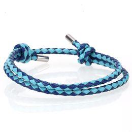 $enCountryForm.capitalKeyWord Australia - Mcllroy 3mm Leather bracelet men for women handmade braided rope bracelets bangles colorful charms men jewelry Valentine gifts