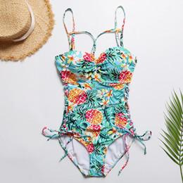 6be0d5cf70db6 Women Push Up One Piece Swimwear Australia - Sexy Pineapple Print Swimwear  One Piece Swimsuit Women