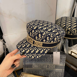 Wholesale black faux leather tops for sale - Group buy C D designer bucket hat black blue Khaki lady autumn beanie hot Sale top fashion women designer hat