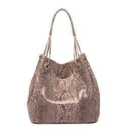 $enCountryForm.capitalKeyWord NZ - good quality Brand Genuine Leather Bag Women Leather Tote Bag Shoulder Bags Serpentine Snake Skin Pattern Handbags Designer Sac