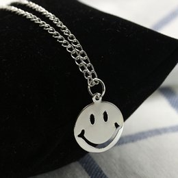 Smile Pack Australia - Korean version of the hundred matching accessories small fresh expression pack necklace cute round smile clavicle chain Yiwu jewelry wholesa