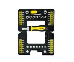 $enCountryForm.capitalKeyWord NZ - 2019 STANLEY 39 PC black chrome mechanics tool set hand held case SCREW hardware tools MC-391S-23 free shipping high quality