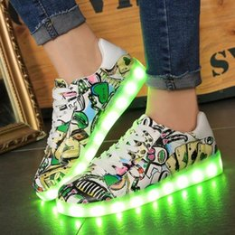 2016 Light Up Led Luminous Shoes Color Glowing Casual Fashion With New Simulation Sole Charge For Men Adults Neon Basket Available In Various Designs And Specifications For Your Selection Men's Casual Shoes Men's Shoes