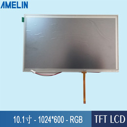 inch tft lcd touch screen UK - 10.1 inch 1024*600 TFT LCD Module display with RGB Interface screen and RTP resistive touch panel