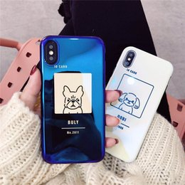 Fighting Australia - Hepu for Apple iphone X cute dog Blu-ray fighting bucket iphone 8 mobile phone shell 7plus soft shell