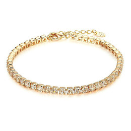Crystal Christmas Wedding Bridal Jewelry Bare Diamond Bracelet Cheap Single Row Zircon Bracelet Bridal Jewelry Accessories from sapphire pearl rings suppliers