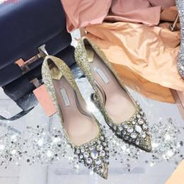 $enCountryForm.capitalKeyWord Australia - Women high heels dress beautiful stilettos Sexy fashion multi glitter pointed dress professional wedding shoes with diamond heels