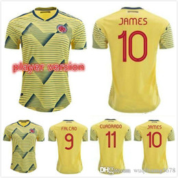 colombia jerseys Australia - Newest 2019 Player version Colombia Soccer Jerseys Copa America JAMES FALCAO de futbol CUADRADO VALDERRAMA Football shirts