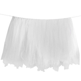 $enCountryForm.capitalKeyWord UK - JEYL Birthday Wedding Baby Shower Table Tulle Tutu Skirt Decoration