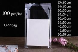 Vente en gros 100 pcs / lot différentes tailles claires Cellophane Poly Sacs Transparent Opp Bag Emballage Auto-Adhésif Seal Bag