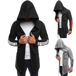 $enCountryForm.capitalKeyWord NZ - 2019 Casual Long Jackets Men Autumn Hoodies Windbreaker Printing Long Sleeve Outwear High-Quality Trench Windbreaker Jackets