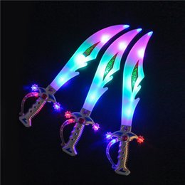 $enCountryForm.capitalKeyWord Australia - Hot new Led Toys Electronic Light Knife Simulation Children's Toys Sword Colorful Flash Swords Gifts For Kids WCW307