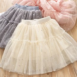 wholesale tutus Australia - New sequin girls skirts lace tutu kids skirts kids designer clothes girls tiered skirts princess dress kids clothes girls clothes A7507